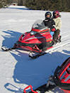 Snowmobiling in the State Park